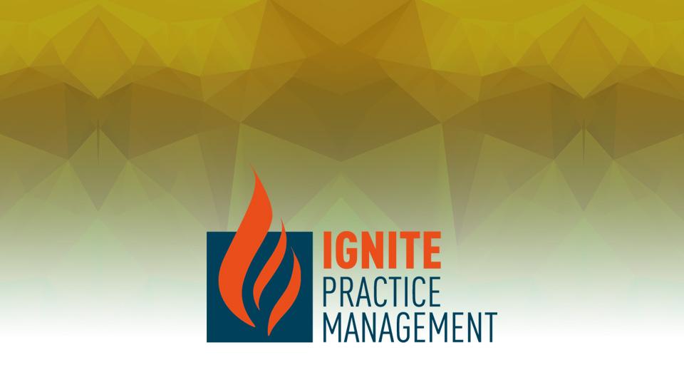 IGNITE Practice Management - all 7 modules